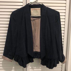 Anthropologie navy blue blazer